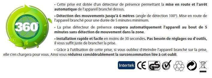 D tecteur de pr sence econology - Prise detecteur de presence ...