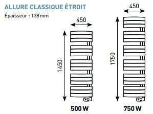 radiateur s che serviettes allure thermor econology