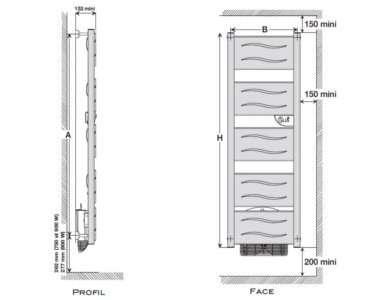 radiateur s che serviettes zanzibar atlantic econology. Black Bedroom Furniture Sets. Home Design Ideas