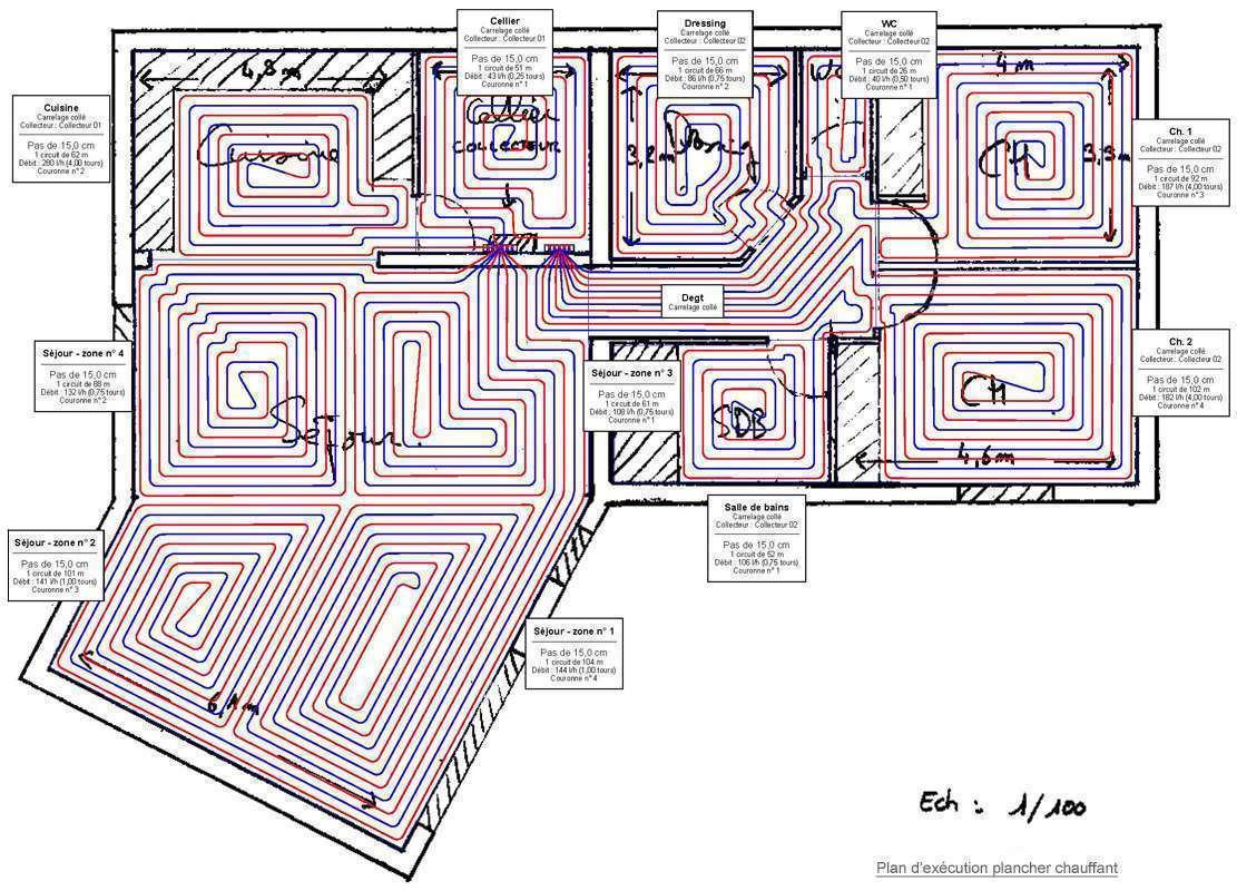 tuyaux pose de parquet sur plancher chauffant a eau. Black Bedroom Furniture Sets. Home Design Ideas