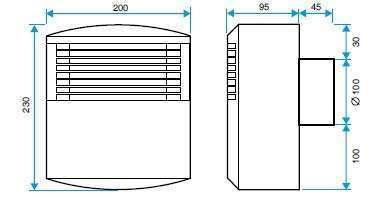 vmc r partie simple flux autor glable aldes mono econology. Black Bedroom Furniture Sets. Home Design Ideas