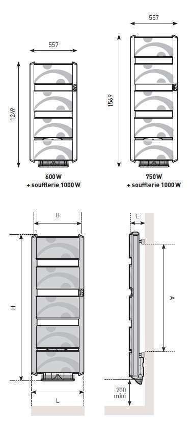 radiateur s che serviettes poeme thermor econology. Black Bedroom Furniture Sets. Home Design Ideas
