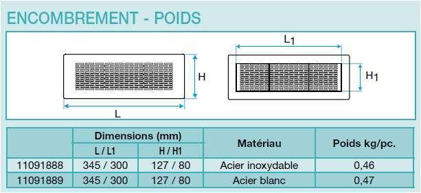 grille rectangulaire aldes distribution d 39 air. Black Bedroom Furniture Sets. Home Design Ideas