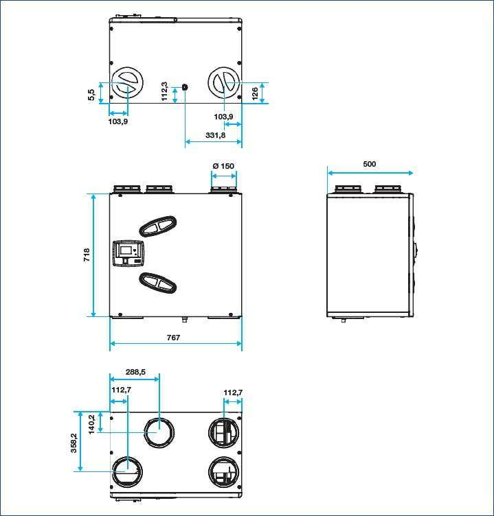 vmc double flux dee fly cube 550 aldes econology. Black Bedroom Furniture Sets. Home Design Ideas