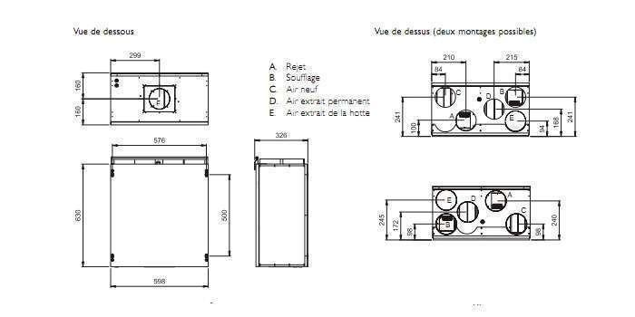 vmc double flux systemair vr 300 ecv b econology. Black Bedroom Furniture Sets. Home Design Ideas