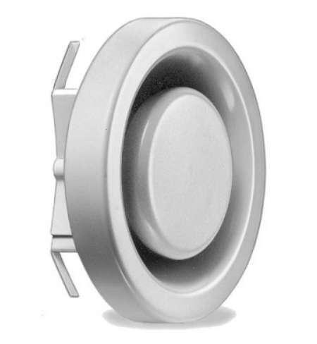 Bouche d'extraction métal réglable