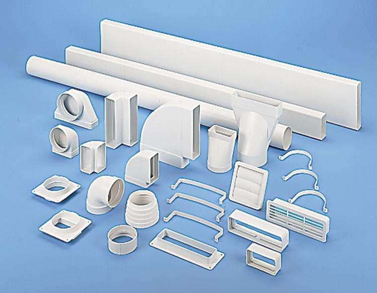 conduit et accessoires pvc rigides ultra plats 55x110 tub pla unelvent. Black Bedroom Furniture Sets. Home Design Ideas