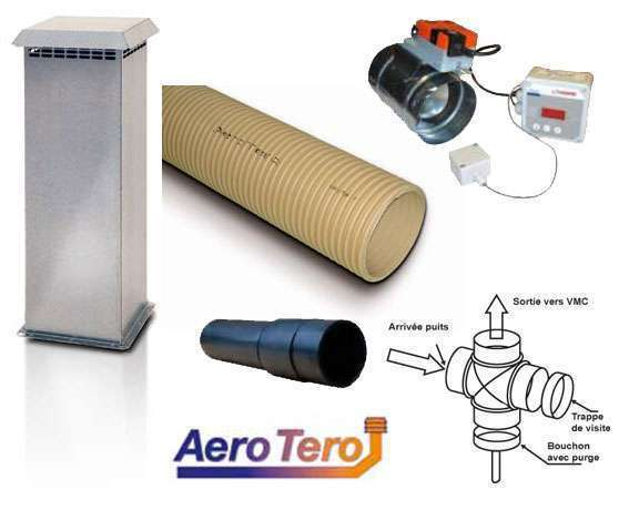 Kit puits Canadien AeroTero avec bypass