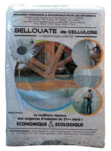 Ouate cellulose - Sac 12,5 kg