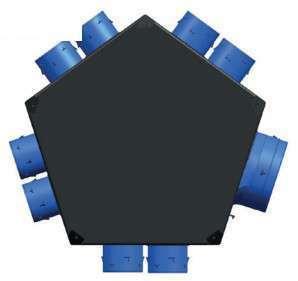 Plenum insufflation universel isolé 8xD80 + 1xD125