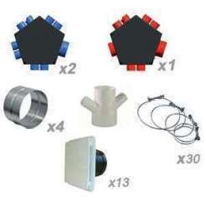 Kit accessoires réseau VMC DF 2x8 piquages