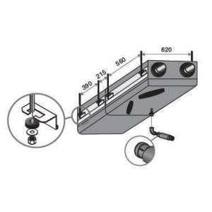 Kit suspension plafond échangeur/moteur Dee Fly