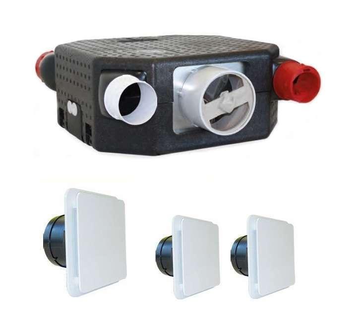 Kit VMC simple flux autoréglable deco flat dhu k unelvent 604126