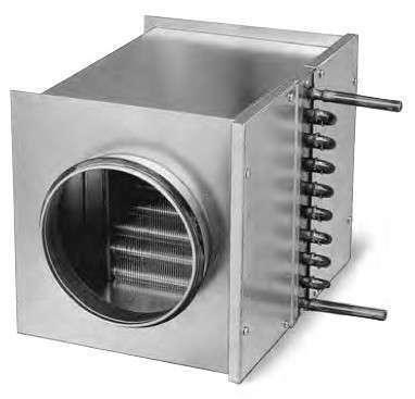 Batterie eau chaude pour conduit ⌀125
