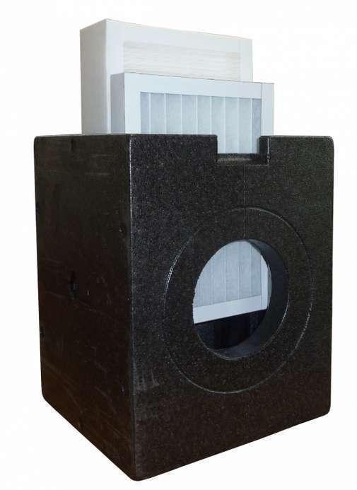 Boîtier iso-box DN 160 avec filtre à charbon actif AK