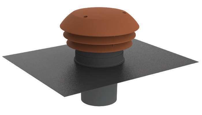 Chapeau de toiture plastique tuile ⌀160