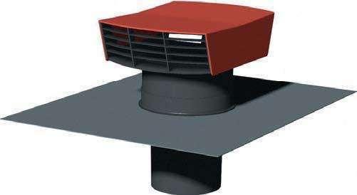 Chapeau de toiture D150/160 plastique rouge