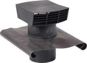 Chapeau de toiture D125 plastique noir