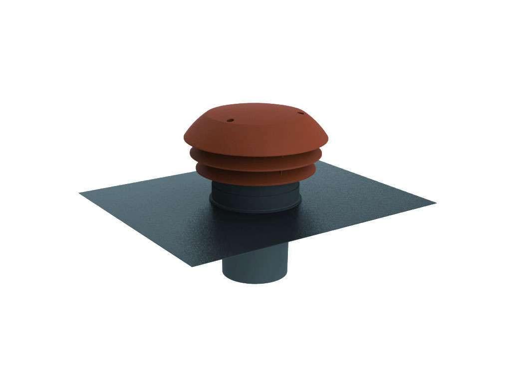 Chapeau toiture plastique tuile rejet ou prise air ⌀160