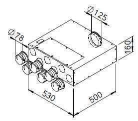 Collecteur extra-plat 6x75/125