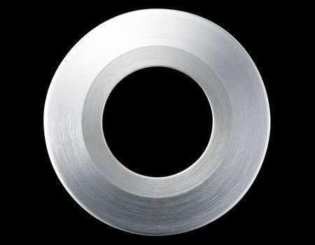Collerette ronde acier brossé