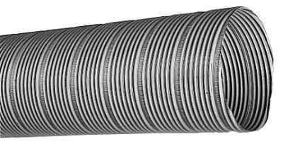 Conduit semi-rigide acier électro-zinguée D80 - long. 3m