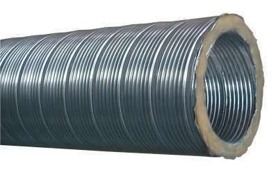 Conduit semi-rigide aluminium insonorisé long. 3m D80