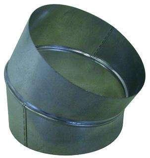 Coude galva diamètre 125 mm