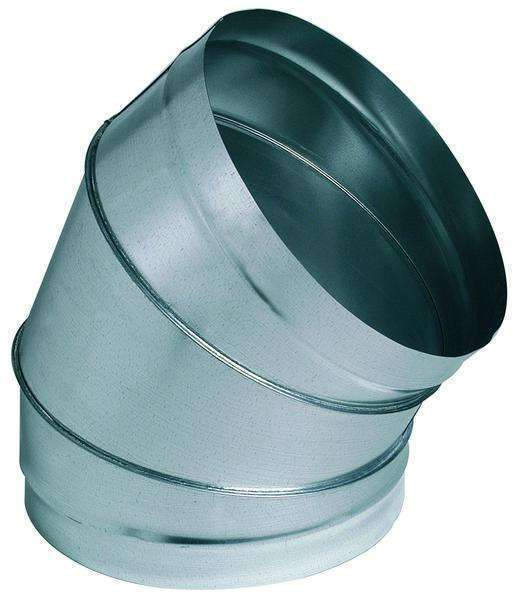 Coude 60° galva diamètre 125 mm