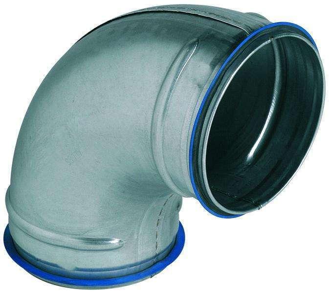 Coude 90° galva diamètre 125 mm