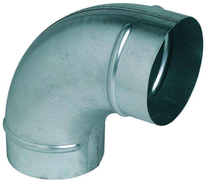 Coude 90° galva diamètre 80 mm