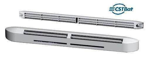 Entrée d'air hygroréglable acoustique compacte + grille-EHC 5/45+G-34 GR-Atlantic-526608