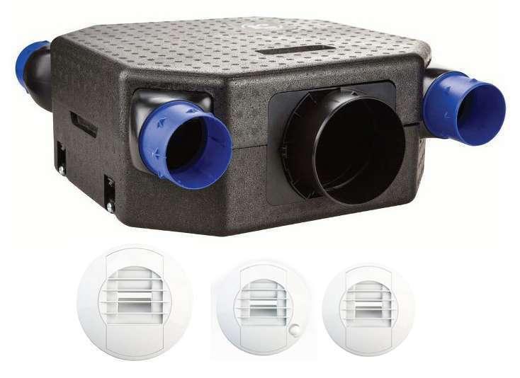 Kit VMC simple flux hygroréglable
