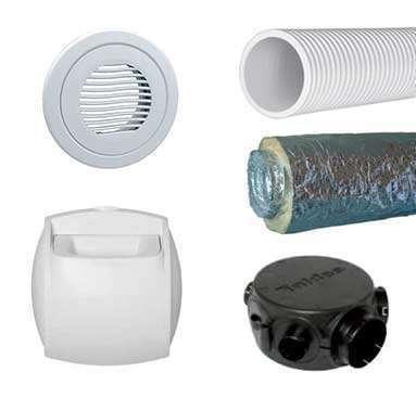 Kit accessoires réseau PVC alu pour double flux