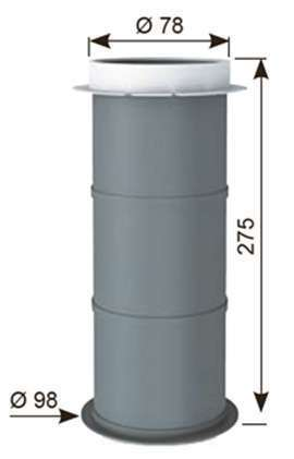 Manchon plastique dalle 80 mm l.275