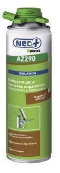 Nettoyant pour mousses expansives Polyuréthane NEC+ pour aérosols manuels et pistolables AZ290 NEC+