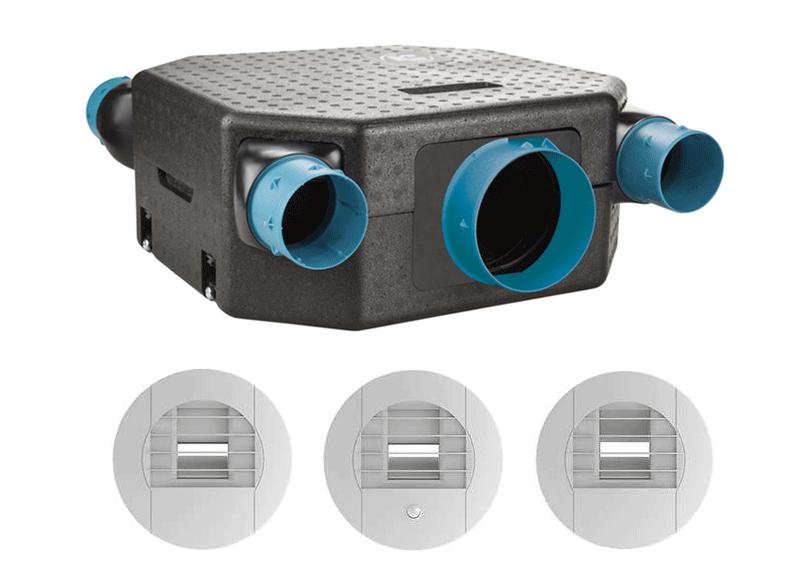 ozeo flat Kit VMC simple flux hygroréglable UNELVENT 604811