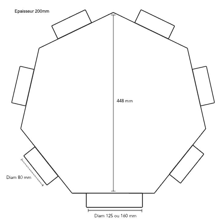 Plenum intermédiaire 6x75/125 econoname