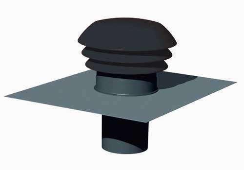 Chapeau de toiture plastique ⌀125 ardoise