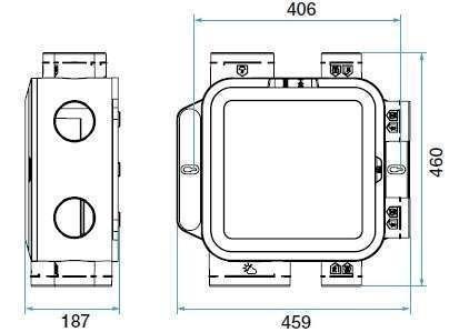 VMC simple flux autoréglable ALDES  EasyHome Auto Compact