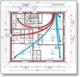 Réseau par répétition pour système de ventilation (VMC) Econology