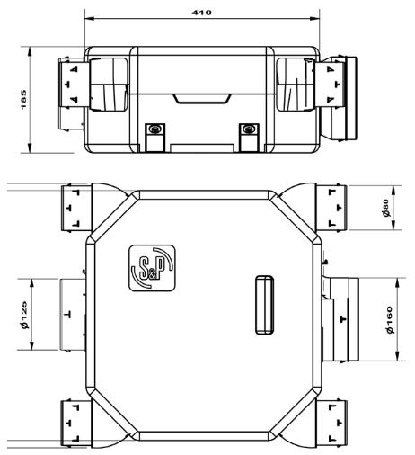 ozeo flat ecowatt unelvent dimensions