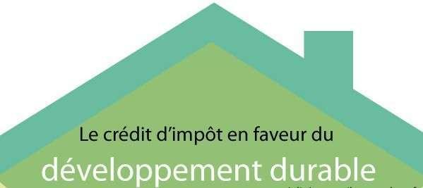 [Infographie] Le recours du crédit d'impôt en faveur du développement durable.