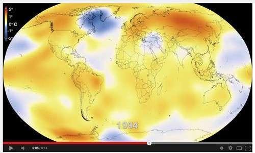 60 ans de réchauffement climatique en vidéo