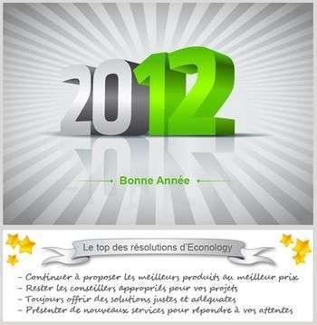 Le top des résolutions pour Econology !