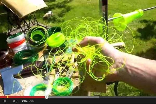 Bonne idée : système de recyclage d'une bouteille d'eau en corde